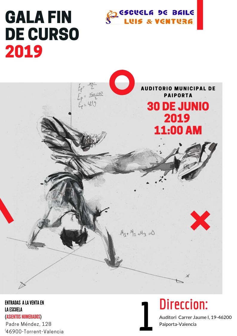 Cartel Fin de curso 2019 PAIPORTA